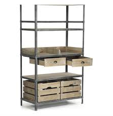 Bakers Rack Console Ardsley Industrial Loft Grey Metal Bakers Rack Bookcase Kathy