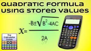 quadratic formula using d memory values for a b c casio calculator fx 83gt plus fx 85gt you