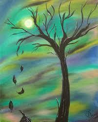 tim burton tree painting by sesha