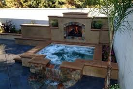 Mediterranean Backyard Landscaping Ideas Backyard Hot Tub Landscape Mediterranean With Covered Structure