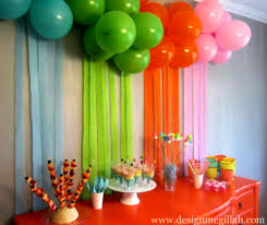 birthday party decorations at home good home design creative in