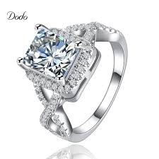 aliexpress com buy white gold color jewelry ring engagement