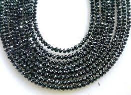 black diamond necklace images Amazing 8 strands black diamond 176 cts beads necklace gleam jewels jpg