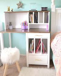 gorgeous diy desk with hutch hometalk