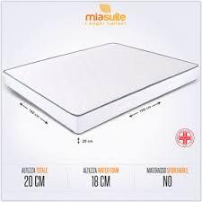 costo materasso matrimoniale materasso matrimoniale 160x190 h 20 cm ortopedico economico ebay