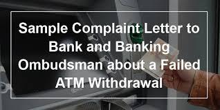 sample banking ombudsman complaint form financial service banking