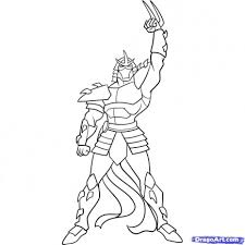 turtles shredder coloring pages
