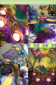 a fun mardi gras table setting with playful details part 2