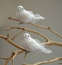 White Bird Christmas Decorations by Two Turtle Doves Fake Turtle Doves Inside A Small Bird Cage