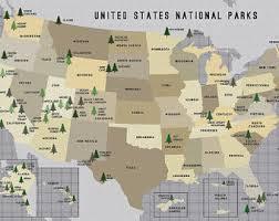 map us national parks national parks map us parks system push pin canvas usa