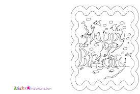 birthday card to print remarkable wonderful colorable birthday cards print coloring