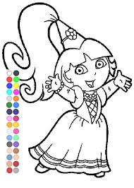 dora coloring games dora fairytale coloring pages youtube