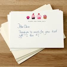 personalized thank you cards original custom personalized thank you cards cupcake design