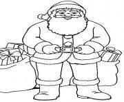 christmas santa claus kids 08 coloring pages printable