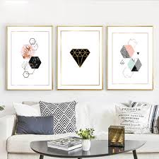 nordic decoration online shop geometric diamonds wall art canvas posters prints