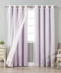 interior ombre lavender blackout curtains for window decor idea