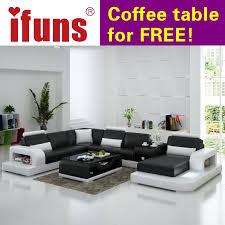 Cheap White Leather Sectional Sofa Ifuns Modern Design U Shaped Quality White Leather Sectional Sofa