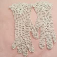 shop crochet wedding gloves on wanelo
