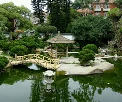 amazing home garden decoration ideas with bamboo bridge and green