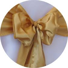 Gold Chair Sashes Brooklyn Party Rental