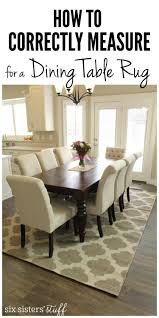 dining room rug ideas how to correctly measure for a dining room table rug rugs