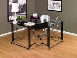 Studio Desk Cheap by Rustic Varnished Wooden Corner Computer Desk With Bottom Shelf As