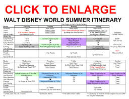 free itinerary planner template new summer itinerary for walt disney world released the