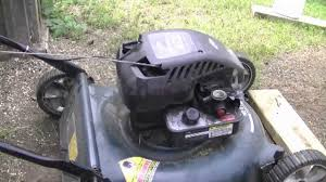 how to adjust the engine speed on a briggs quattro lawn mower