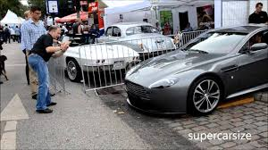 aston martin vanquish front aston martin v12 vantage almost grinding with the front on the