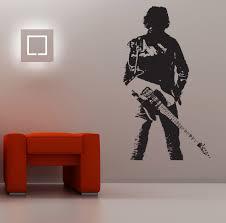 amazon com bruce springsteen wall art mural sticker music singer amazon com bruce springsteen wall art mural sticker music singer rock star medium 50cm w x 90cm h home kitchen