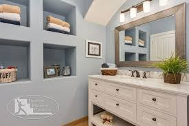 Bathroom Vanity With Shelves Basement Bathroom Vanity Shelves Traditional Bathroom