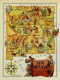 Map Of Albuquerque New Mexico by New Mexico Pictorial Map 1946