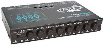 lanzar car audio 1 2 din 4 band power equalizer subwoofer gain