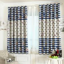 short bay window star pattern kids curtains and window treatments