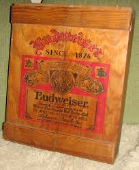 Metal Budweiser Cooler by Breweriana Beer Collectible Vintage Wooden Beer Case U0026 Cooler