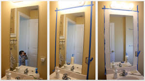 Framing Bathroom Mirror by Diy Framing Bathroom Mirrors Home