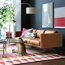 west elm leather sofa reviews west elm brooklyn sofa autoinsuranceny club