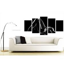 extra large bedroom woman canvas prints uk 5 panel in black white display gallery item 2 back display gallery item 3