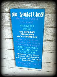 funny no soliciting sign bridal shower gift housewarming present