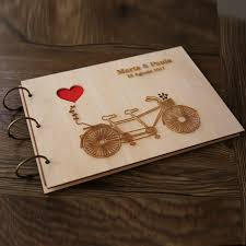 wedding guest book photo album personalized wedding guest book rustic wedding guestbook