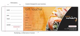 gift voucher printing printed gift vouchers gift certificate