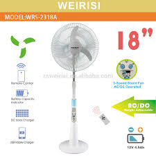 18 4 speed stand fan with remote control model s18601 solar 18 inch pedestal rechargeable fan usb ac dc stand fan view