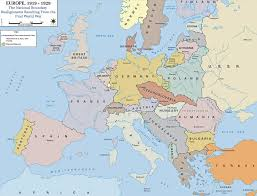 Political Map Europe by Map Of Europe In 1919