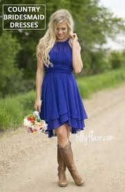 beautiful country bridesmaid dresses with cowboy boots for your