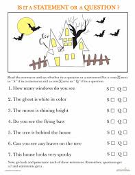 statements and questions halloween edition worksheets student