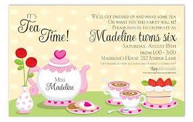 tea party invitation wording marialonghi com