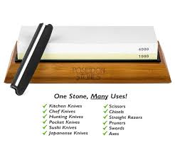 Kitchen Knives Guide Amazon Com Sharpening Stone Set Premium Two Sided 1000 4000