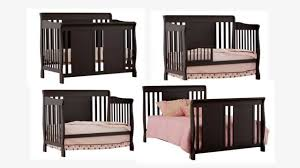 Convertible 4 In 1 Cribs Stork Craft Verona 4 In 1 Fixed Side Convertible Crib Black