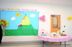diy peppa pig themed birthday party the experimental baker homemaker