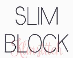 block embroidery font etsy